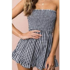 Love@first sight strapless shorts jumpsuit